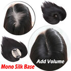 Silk Base Lace Wig Virgin Human Hair Topper Hairpiece Mono Toupee for Women P826