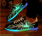 NEW FASHION Breathable Sneaker fluorescenc Light Up Casual Running Mens Shoes