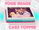 EDIBLE CAKE IMAGE Cake Topper PHOTO LOGO CUSTOM BIRTHDAY Design Frosting Sheet