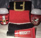 Bath And Body Works *NAUGHTY* Santa Lounge Sock & Lip Gloss Set