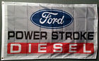 FORD POWER STROKE DIESEL TRUCK BLUE OVAL EMBLEM BADGE LOGO FLAG BANNER 3X5 f150