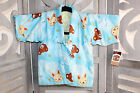 JAPANESE PONCHO BABY Hanten  PONCHO Bears blue 12 24 months New with tags