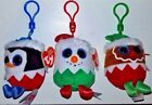 Sugarplum, Fruitcake & Eggnog Ty Baby Beanies Set of 3 Ornaments - FREE SHIPPING