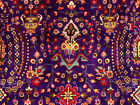 10x13 HAND KNOTTED PERSIAN TABRIZ ANTIQUE RUG PURPLE IRAN TREE OF LIFE RUGS 9x12