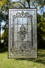 Stunning Handcrafted stained glass Clear Beveled window panel 205 x 345