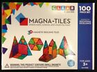 Magna Tiles 100 Piece Clear Colors 3D Building Set Valtech Brand New in Box