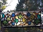 Stunning Manhattan Historic 1929 Antique Empire Deco Floral Stained Glass Window