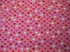 1 4 Yard Pink Red Purple Tiny Valentine Hearts Fabric Quilting 100 Cotton
