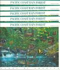 3378FIVE5PACIFIC COAST RAIN FOREST NATURE OF AMERICA SHEETS NH XF