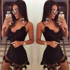 Summer Style White Black Lace Dress V Cami Bodycon Sexy cheap clothes china vest