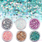 Women Lady Nail Art Tips Glitter Powder Eyeshadow Makeup Beauty Craft Paillette