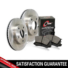 Centric Front Brake Rotors  Metallic Brake Pads 3PCS For Jeep Grand Cherokee