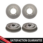 Centric Front + Rear Brake Rotors  Brake Drums 4PCS For Suzuki Sidekick