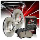 Centric Front Brake Rotors  Ceramic Brake Pads 3PCS For 1992 Jeep Cherokee
