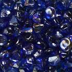 Celestial Fire Glass Fire Glass Diamonds Cobalt Blue Luster 10 Pound Jar