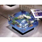 25 Gallon Luxurious Coffee Table Fish Tank Aquarium Glass Tropical Aqua End Home