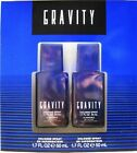 New Gravity Cologne gift set 2x 17oz sprays free shipping twin total 34 ozs