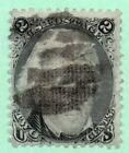 One Penny Sale 87 E Grill Early US Stamp Fancy Cancel Faults