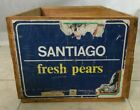 Vintage Chilean Wood Fruit Crate Boxes Del Curto Pears 12