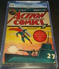ACTION COMICS ISSUE 21 FEB 1940  CGC 25 G+  GOLDEN AGE SUPERMAN WWII COVER