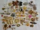 Vintage Brooches Pins Mixed Lot Over 50 Trifari Avon Coventry Sterling Napier JJ