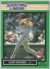 1989 Cory Snyder Cleveland Indians Card Starting Lineup SLU MLB Baseball