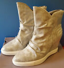 NEW Womens Jennifer Lopez Silver Wedge Ankle Boots Heel 65 7 95 FREE SHIP