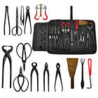 14Pcs Bonsai Tools Kit Set Carbon Steel Cutter Scissors Shears Tree Nylon Case