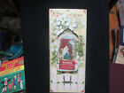 A YEAR OF GRACE 1912 DIE CUT NATIVITY SCENE ADVERTISING CALENDAR INDIANAPOLIS IN