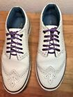 Ted Baker London Livor Mens White Low Top Sneakers Oxford Casual sz US 9 EU 42
