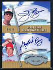 2005 UD PAST TIME PENNANTS JIM PALMER GAYLORD PERRY DUAL SIGNATURES AUTO 4 15