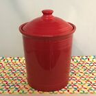 Fiestaware Scarlet Large Canister Fiesta Red 3 Quart Kitchen Crock