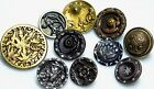 Antique Vintage Victorian BUTTONS CHARMSTRING insect +++