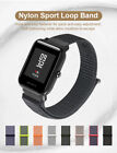 20mm Woven Nylon Sport Loop Band Strap For Amazfit Bip Bit Pace Lite Smart Watch