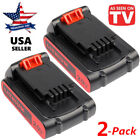 2 Pack New for Black & Decker LB20 LBX20 LBXR20 20V Max 2.0Ah Li-ion Battery US