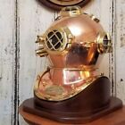 Sea Marine Scuba Navy Style Replica Polished Brass and Copper Diving Helmet