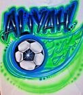 Custom Airbrushed Soccer Futbol Shirt With Name Sizes 6 months Adult 5XL