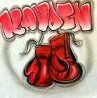 Custom Airbrushed Boxing Gloves Shirt With Name Sizes 6 months Adult 5XL