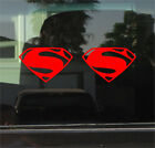 Superman - Man Of Steel Vinyl Sticker Pair
