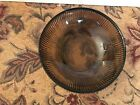 Vintage E.O. Brody Co. Brown Ribbed Glass Bowl Cleveland Ohio, U.S.A. Candy Dish