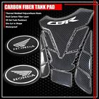 FOR CBR FAIRING/FENDER BADGE CHROME+REAL CARBON FIBER FUEL TANK PAD PROTECTOR