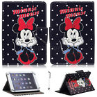 """For 7"""" 10"""" 10.1"""" Tablet Black Polka Dot Minnie Universal Fold Leather Case Cover"""