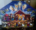 Byers Choice Nativity Wooden Advent Calendar With Original Box NICE