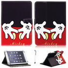 """For Most 7"""" 10.1"""" Tablets Mickey Mouse Hands Universal Leather Case Stand Cover"""