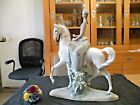 Porcelain LLADRO. The rider and his horse