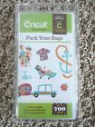 PACK YOUR BAGS Cartridge for Cricut Machine Phrases Cards Boat Vacation Travel