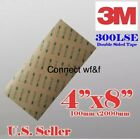 3M 300LSE 4x8 STRONG DOUBLE SIDED TAPE SHEET CELLULAR iPHONE REPAIR SCRAPBOOKING