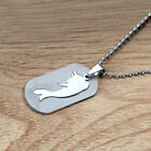 Men Women Silver Cute Dolphin Pendant Stainless Steel Chaiin Necklace Jewelry