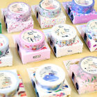 DIY Floral Washi Sticker Decor Roll Paper Masking Adhesive Tape Craft Gifts New