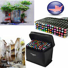 80 Colors Artist Dual Head Sketch Copic Markers Set For School Drawing Sketch US